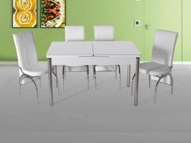 Düz Beyaz Kelebek Mis Masa Takımı KM-116