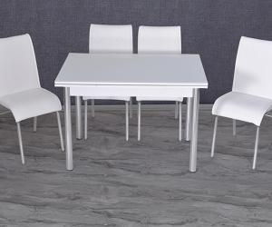 Düz Beyaz Smart Masa Takımı KM-166
